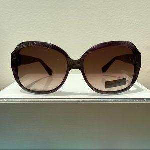 David Yurman DY046 Purple Silver Round Sunglasses